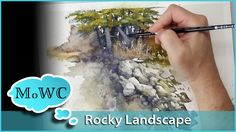Painting a Rocky Watercolor Landscape – Spontaneous Painting