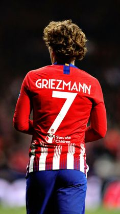 Antoine Griezmann of Club Atletico de Madrid looks on during the UEFA. Antoine Griezmann, France National Team, Football Pictures, Save The Children, Uefa Champions League, Sport Man, Lionel Messi, Neymar, Football Players