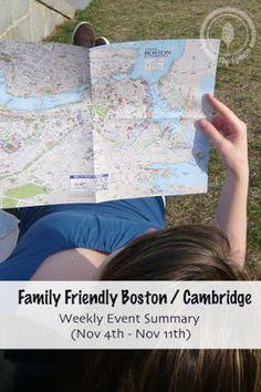Family Friendly Boston Cambridge Weekly Event Summary