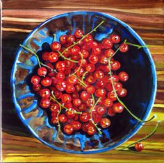 "Currant Crop_sm ""Current Crop"" 16″ x 16″ by Martha Iler"