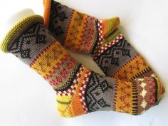 - knitted socks in Nordic Fair Isle patterns Colorful socks Gr. - knitted socks in Nordic Fair Isle patterns. Knitting Socks, Hand Knitting, Unique Socks, Knitting For Charity, Fair Isle Pattern, Patterned Socks, Colorful Socks, Designer Socks, Fair Isles