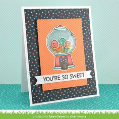 Lawn Fawn Video {7.16.15} A Gumball Shaker Card with Chari Moss