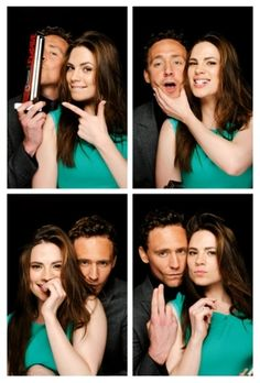 Hayley Atwell and Tom Hiddleston ---> I'm not quite sure how I feel about this, but I'll consider it :3