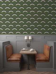Jupiter 10 Launches with its First Collection of Modernist Wallcoverings - Design Milk Deco Restaurant, Restaurant Design, Modern Restaurant, Modern House Design, Modern Interior Design, Contemporary Design, Store Concept, Grande Table A Manger, Design Commercial
