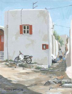 Mykonos Street- rey breen