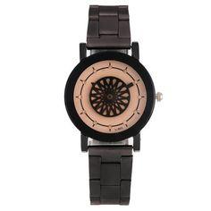 Rhinestone Floral Analog Quartz Watch