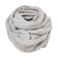 Silver Fine Knit Cable Snood - Scarves - Accessories - Topshop USA