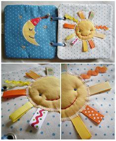 Рыжие Рукоделки/ orange crafts: Книжка-развивайка. sun with ribbons.