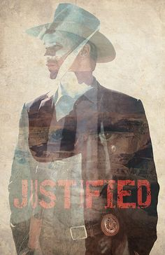 Justified poster alternative poster film by TheCelluloidAndroid