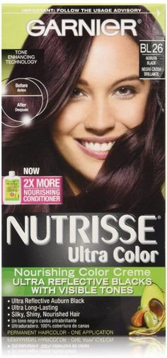 Garnier Nutrisse Ultra Color Creme Permanent Haircolor, BL26 Reflective Auburn Black 1 ea (Pack of 5) *** Find out more at the image link. #HairMascarasandRootTouchUps