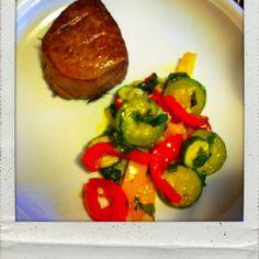 Filetto di manzo e verdure