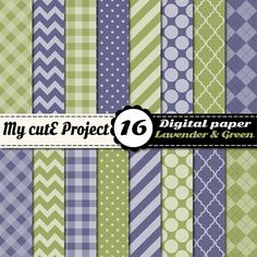 Digital paper lavender and green  Scrapbooking  by Mycuteproject