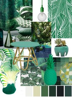 [On aime] Spring trend book: 5 deco and colorful atmospheres. – Between zen and deco @ Source by ouideco Tropical Bedrooms, Tropical Home Decor, Tropical Interior, Tropical Houses, Tropical Furniture, Bedroom Green, Green Rooms, Bedroom Decor, Estilo Tropical