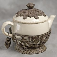 The GG Collection Teapot with Metal Base and Charm