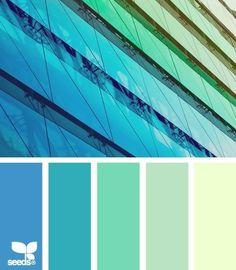 From beautiful blue to sea foam green color palette. #colorscheme #colorpallet