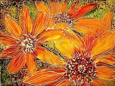 Art: SUNFLOWER BATIK 912 by Artist Marcia Baldwin
