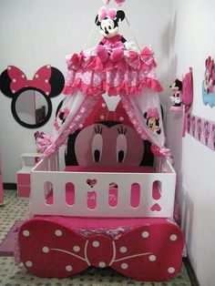 Minnie Mouse Bedroom Decor New Cute Minnie Mouse Bedroom All Things Disney In 2019 Minnie Mouse Nursery, Minnie Mouse Toys, Baby Mouse, Girls Bedroom, Bedroom Decor, Bedroom Furniture, Bedroom Ideas, Baby Girl Crib Bedding, Little Girl Rooms