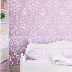 Damask Pattern Wall Stencil Nikita reusable by JboutiqueStencils, $30.50