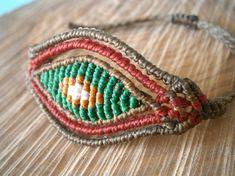Macrame eye bracelet/Macrame jewelry/Bohemian by Ancientmacrame, €13.95
