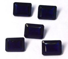 Rare Ink Blue Hydro 12x16mm Octagon Cut 5Pc Wholesale Lot Loose Gemstone Jewelry #CHOUHANGEMS