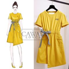 Love these korean fashion outfits 9535708479 Casual Dresses, Casual Outfits, Fashion Dresses, Cute Outfits, Fashion Clothes, Korean Fashion Trends, Asian Fashion, Fashion Ideas, Clothes Design Drawing