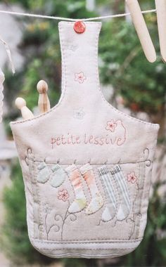 Bolsa porta pinchos de ropa - Juany Cavero - Álbuns da web do Picasa