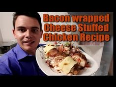 Bacon Wrapped chicken- stuffed with cheese and peppadews