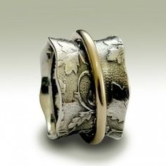 Mixed metal ring// Inspiration.. What if wedding ring is in the top and engagement ring underneath of it?