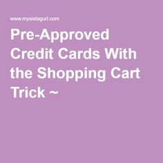 pre approved credit cards to build credit