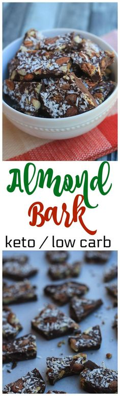 easy almond bark keto low carb