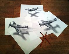 3D Drawings on paper