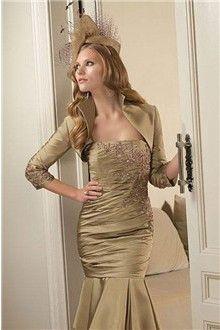 556daa2d8eb Trumpet Mermaid Spaghetti Straps Knee-length Taffeta Mother of the Bride  Dress