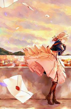 *prooced drawing a straight line* Violet Evergarden Anime Shojo, Manga Anime, Sad Anime, Anime Love, Kawaii Anime, Anime Art, Cool Animes, Demon Manga, Violet Evergarden Wallpaper
