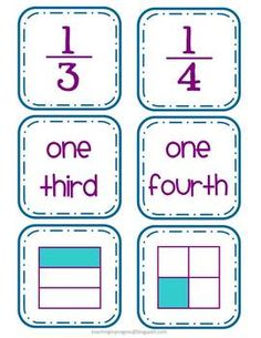 Fraction Card Match Up