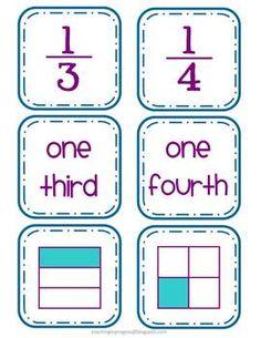 Fraction Card Match Up