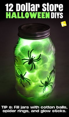 12 Ridiculously Easy Dollar Store Halloween DIYs - The Krazy Coupon Lady party 12 Dollar Tree DIY Halloween Decorations to Scream About Camping Halloween, Diy Halloween Party, Halloween Snacks, Halloween Crafts For Kids, Outdoor Halloween, Halloween Birthday, Holidays Halloween, Halloween Pumpkins, Cute Halloween