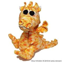 baby dragon willy wyvern by Katja Heinlein, tutorial. $5.95, via Etsy.