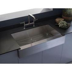KOHLER Vault Undermount Stainless Steel 36 in. Single Bowl Kitchen Sink-K-3943-NA - The Home Depot