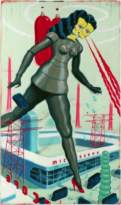 by Ryan Heshka - Images of mutants became popular in the atomic age as the effects of radiation became more known.