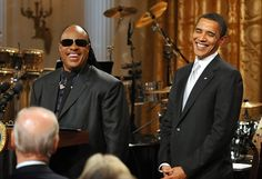 The President and his Favorite singer, Stevie Wonder