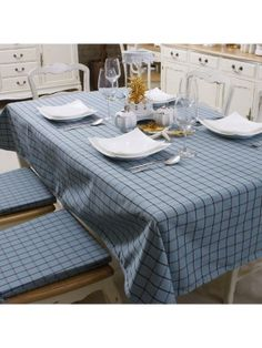 Concise Gingham Table Cloth