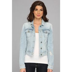 Paige Vermont Jacket in Kirby Women's Jacket featuring polyvore, fashion, clothing, outerwear, jackets, coats & outerwear, kirby, leather jacket, blue jean jacket, blue denim jacket, paige denim and columbus blue jackets
