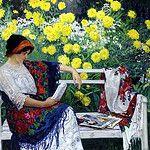 Mulher lendo no jardim, 1915 by Peregrina Cultural