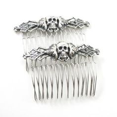 I found 'Gothic Jewelry - Memento Mori Skull Hair Combs by Ghostlove' on Wish, check it out!