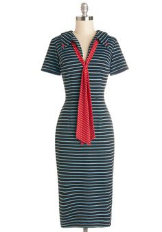 Bettie Page Supper by the Sea Dress | Mod Retro Vintage Dresses