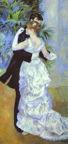 """""""City Dance (Suzanne Valadon and Eugène Pierre Lestringuez)"""" by Pierre-Auguste Renoir (1883)"""