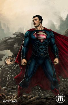 Superman by Harvey Tolibao, colours by Gab * Comic Book Characters, Comic Book Heroes, Marvel Characters, Comic Character, Superman And Lois Lane, Superman Man Of Steel, Dc Comics Art, Marvel Dc Comics, Superman Movies