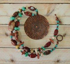 BOHO Necklace Southwest Necklace Turquoise Jewelry by BohoStyleMe