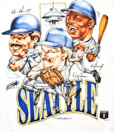 3c4d340898 Edgar Martinez, Randy Johnson, and Ken Griffey Jr. Mariners. Wish I had
