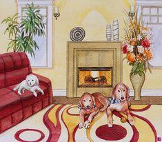 tre cani di Natalia Khromykh